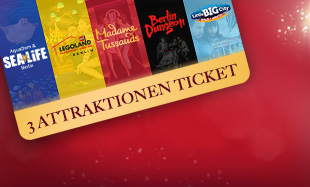 3 Attraktionen Ticket Madame Tussauds Berlin