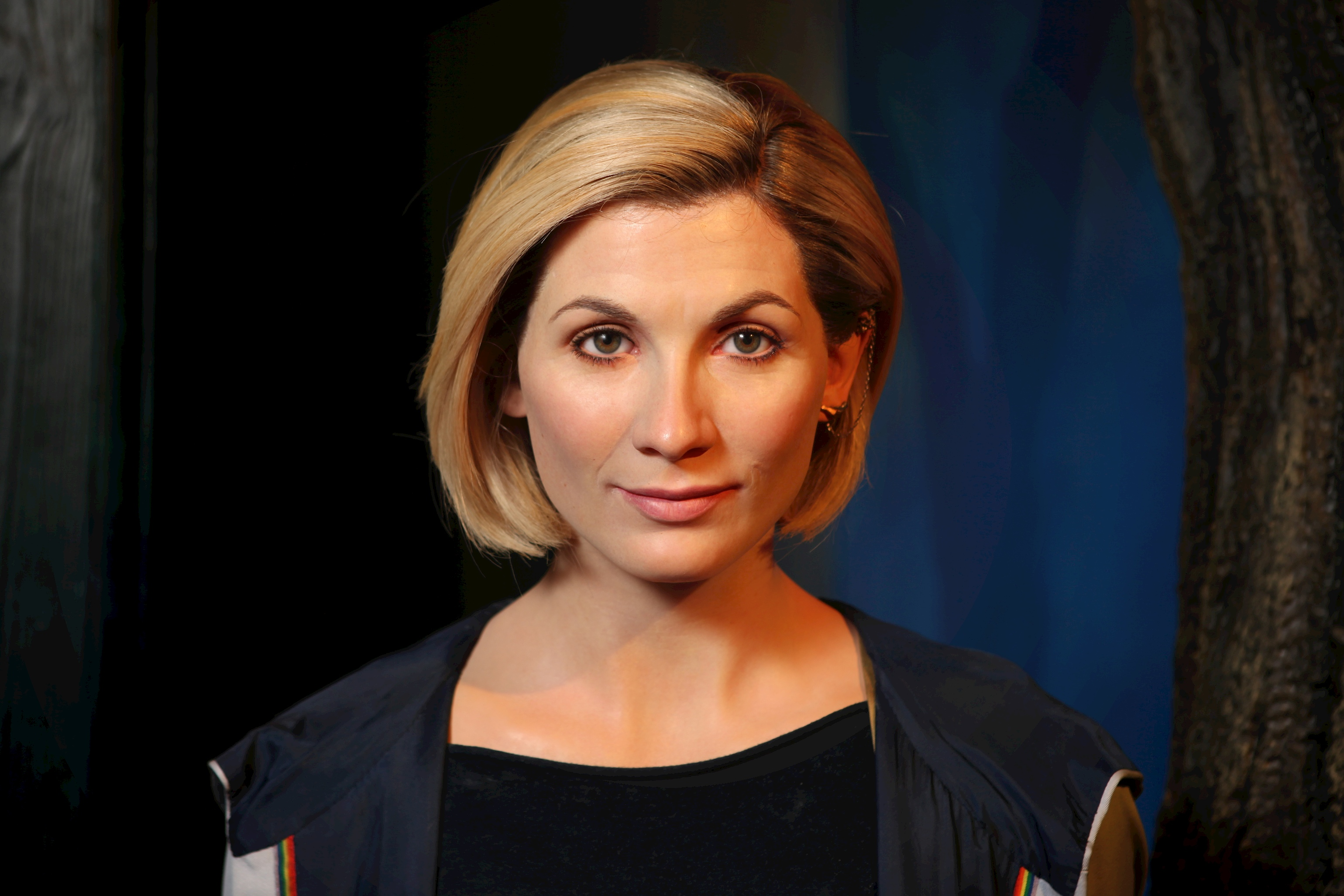 Doctor Who wax figure head shot at Madame Tussauds Blackpool