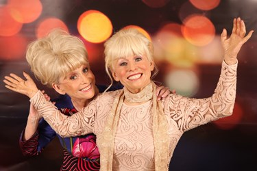 Dame Barbara Windsor stands next to her wax figure at Madame Tussauds Blackpool