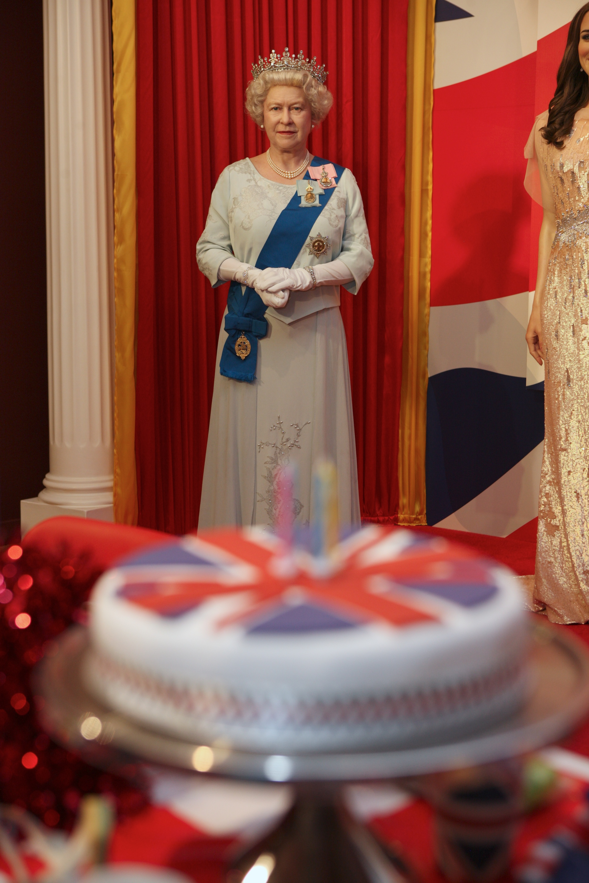 HRH The Queen wax figure at Madame Tussauds Blackpool