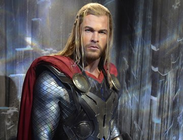 Thor wax figure at Madame Tussauds Blackpool