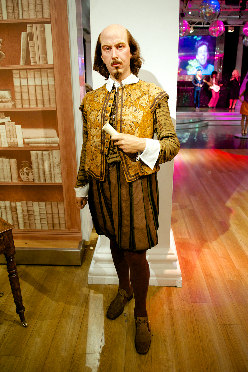 William Shakespeare's figure at Madame Tussauds London