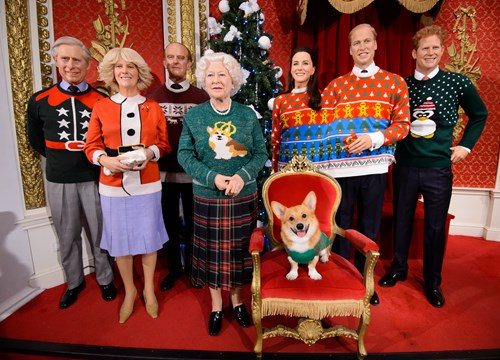 Royal Family's figures in Christmas jumpers