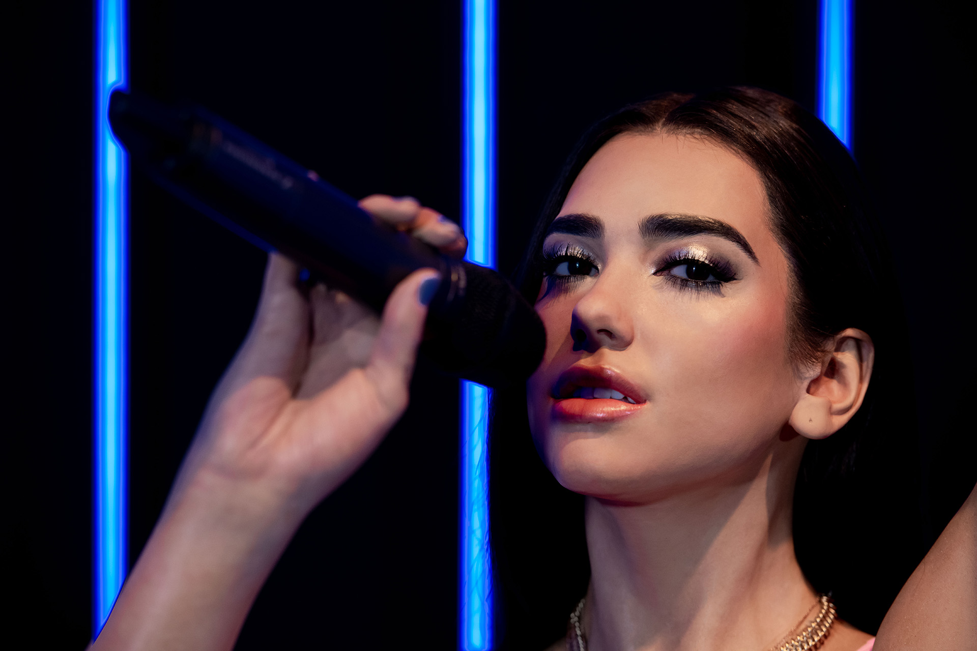 Dua Lipa's figure at Madame Tussauds