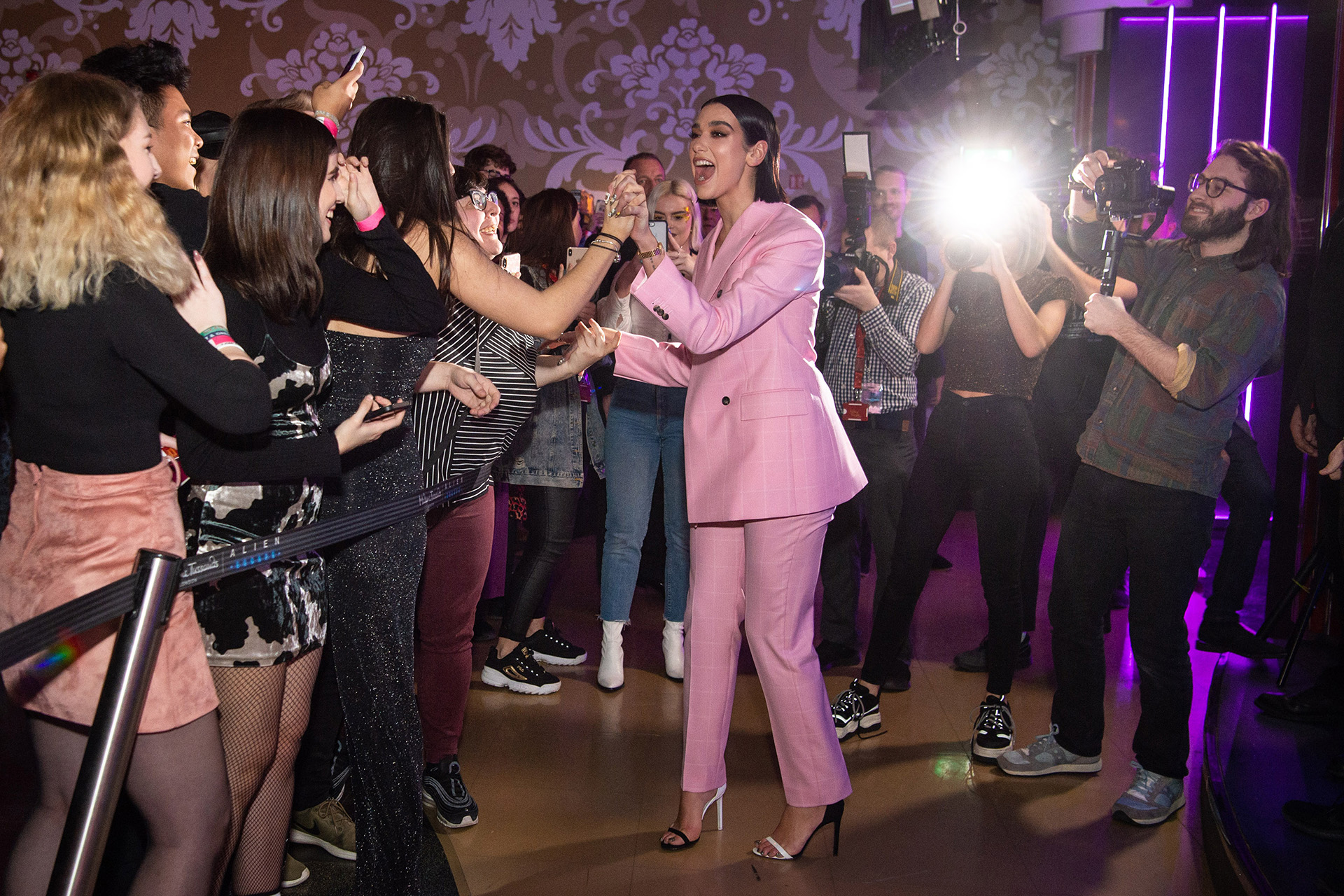 Dua Lipa's surprise appearance at Madame Tussauds