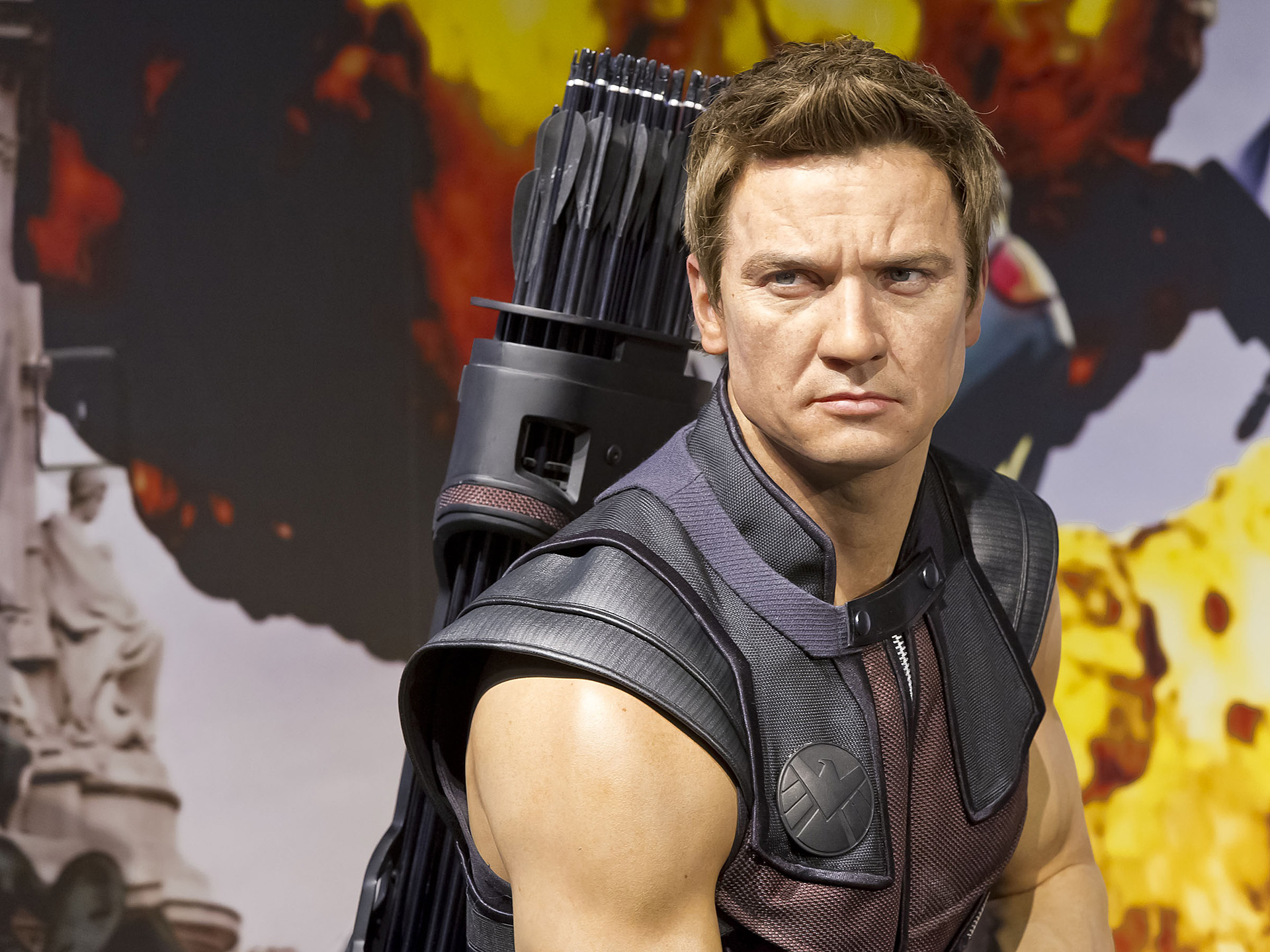 Hawkeye's figure at Madame Tussauds London