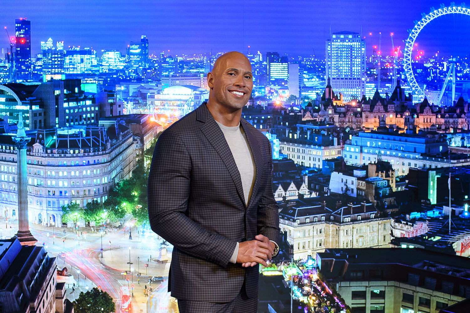 Dwayne Johnson's figure at Madame Tussauds