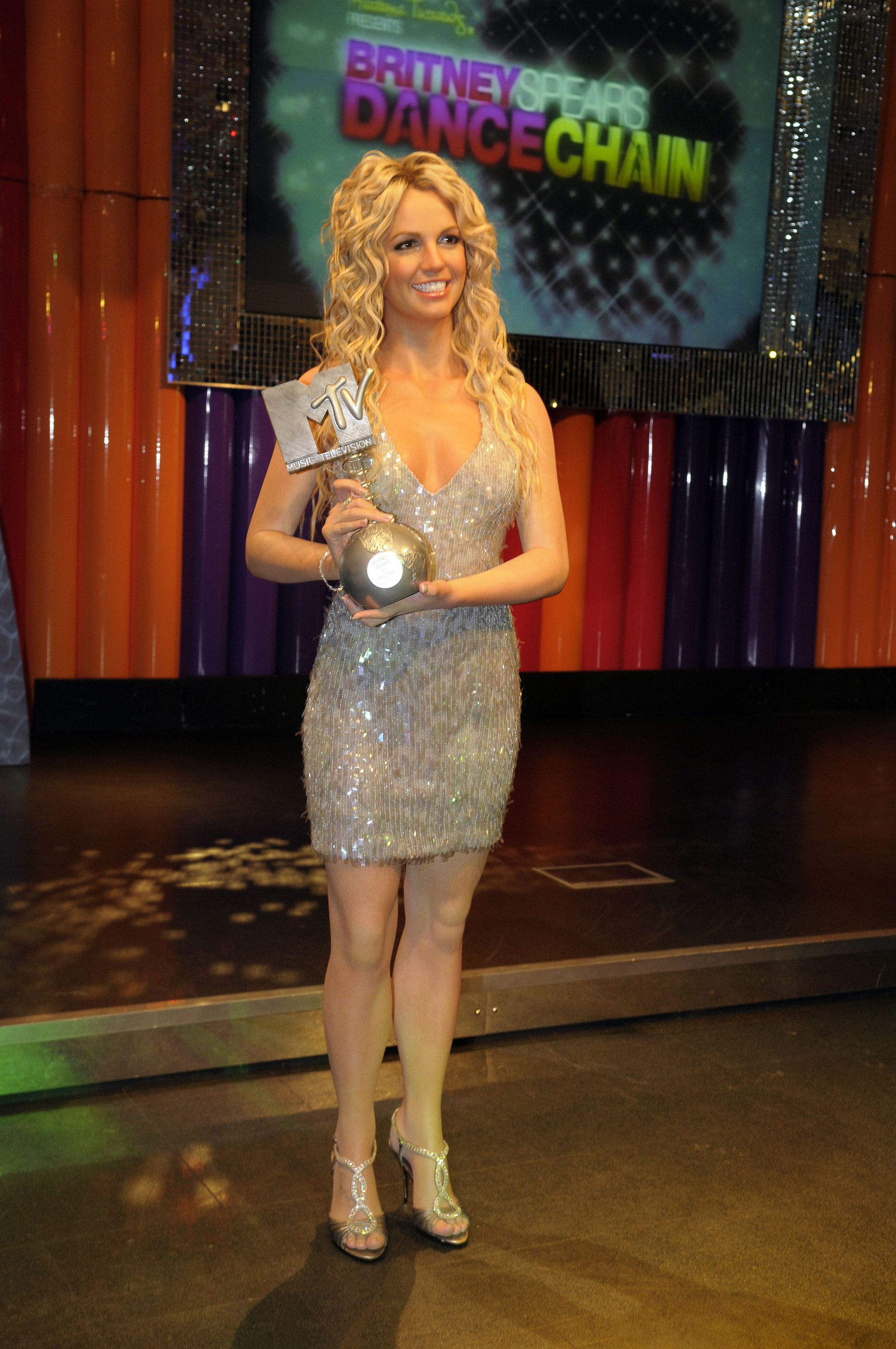 Britney Spears figure holding a MTV award