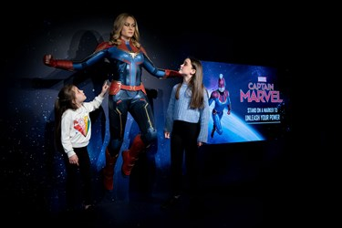 Captain Marvel with girls