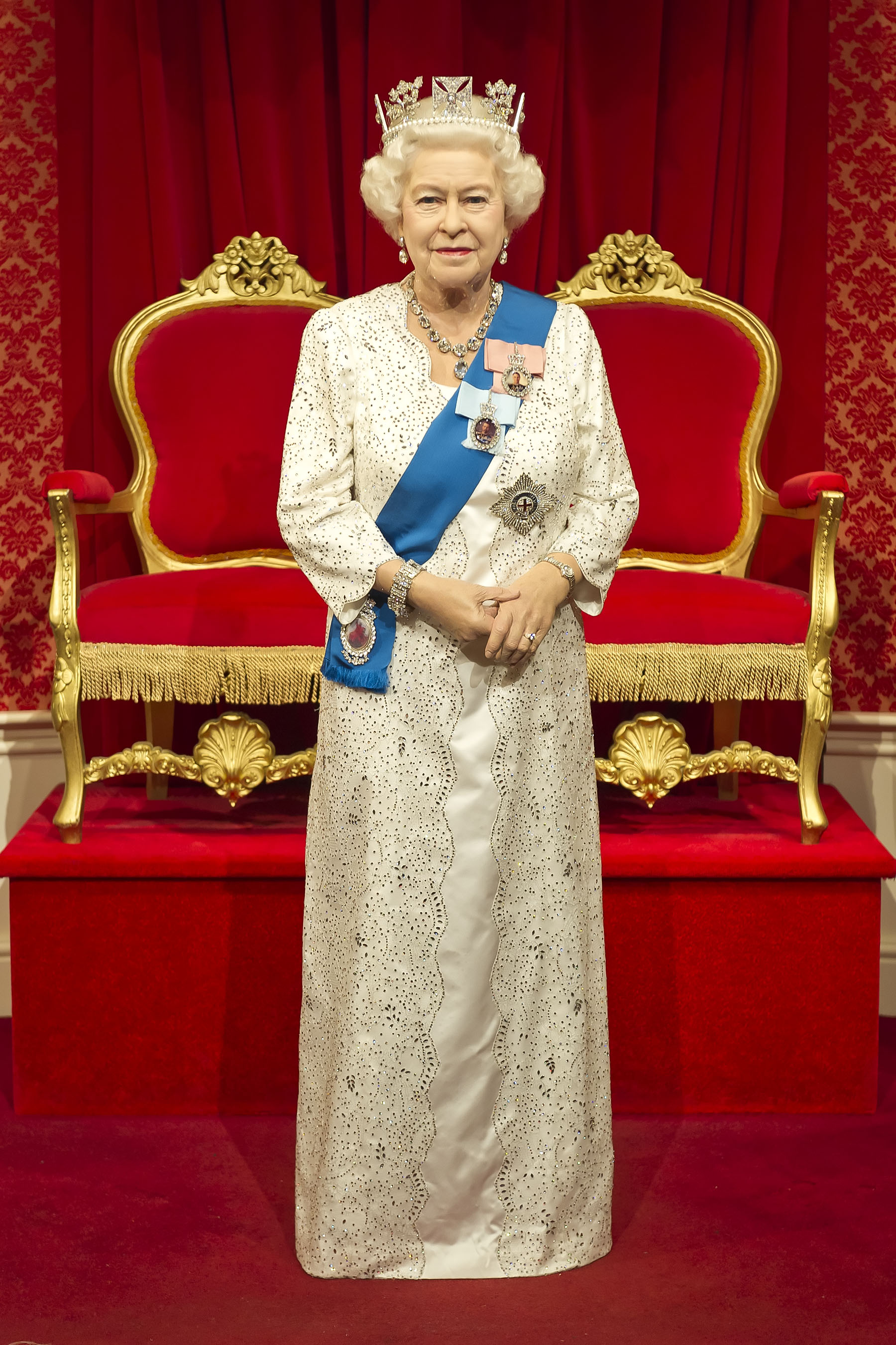 Queen Elizabeth II figure at Madame Tussauds