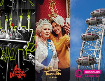 London Dungeon Madame Tussauds and London Eye