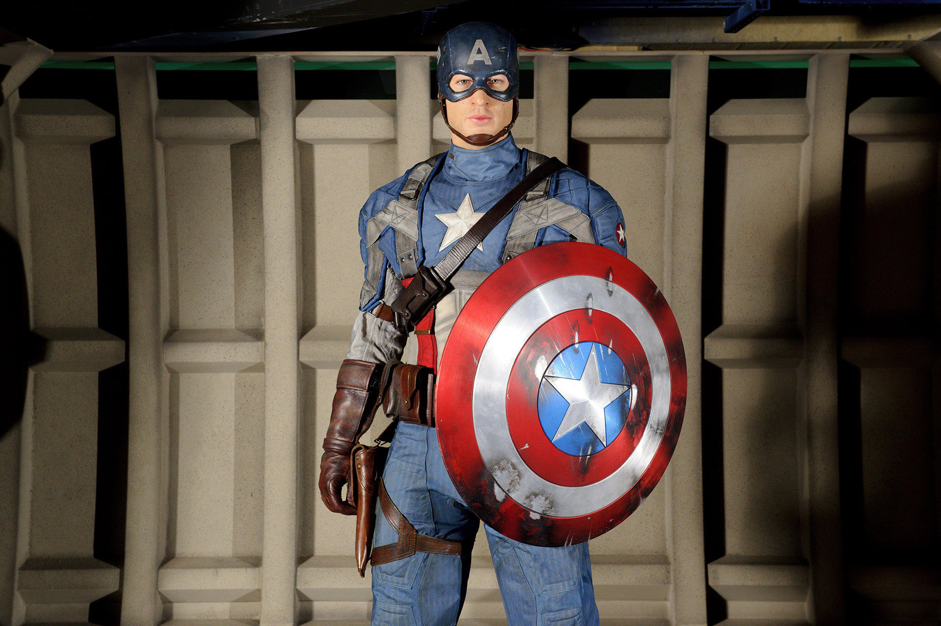 Captain America's figure at Madame Tussauds London