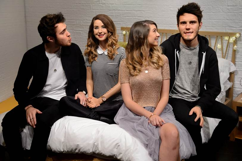 YouTube stars Zoella & Alfie With Their Figures