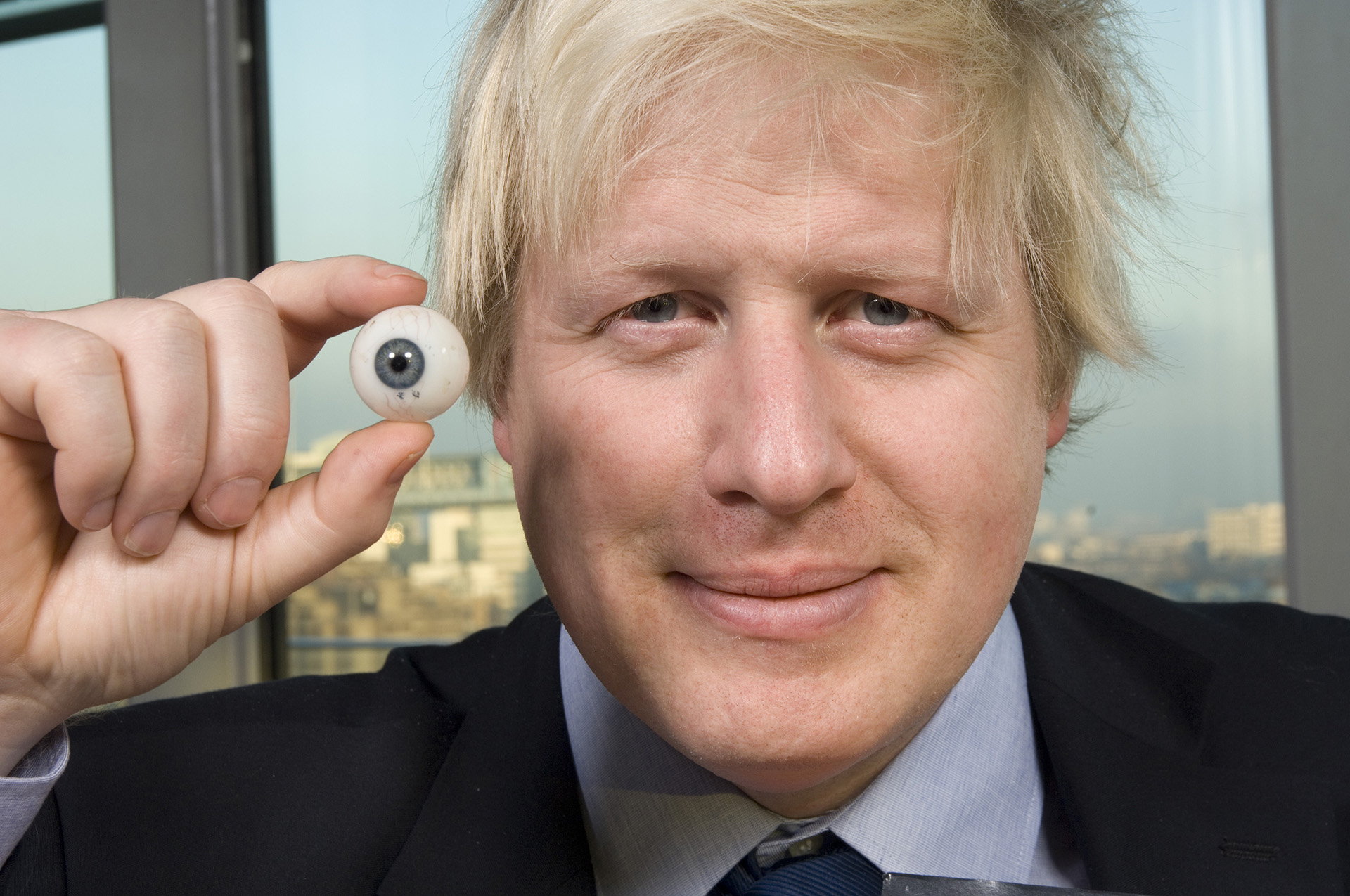 Artists find the closest colour match to Boris's eyes to make them as accurate as possible