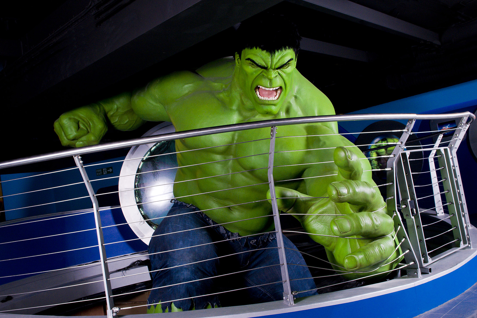 The Incredible Hulk's figure at Madame Tussauds London