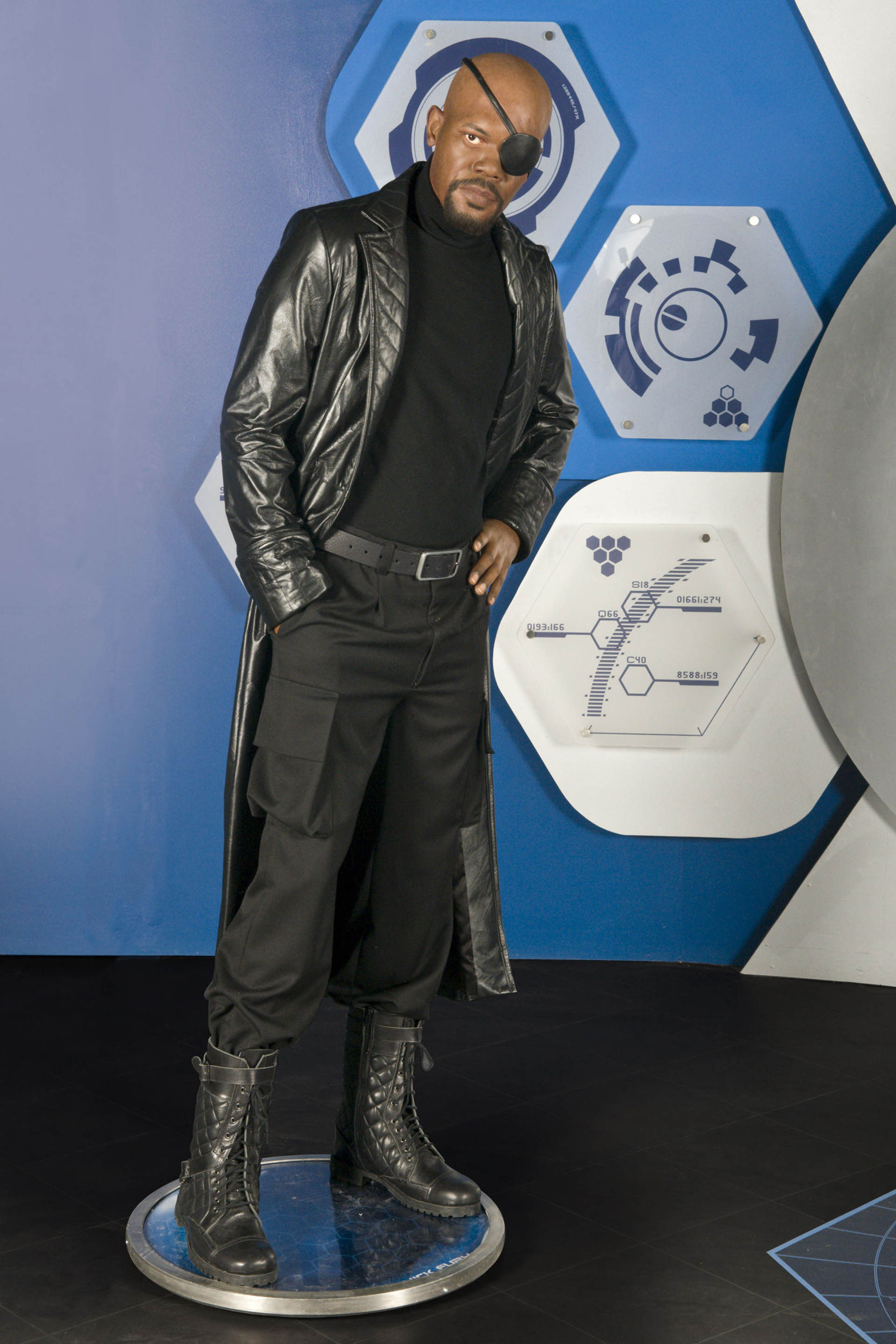 Nick Fury's figure at Madame Tussauds London