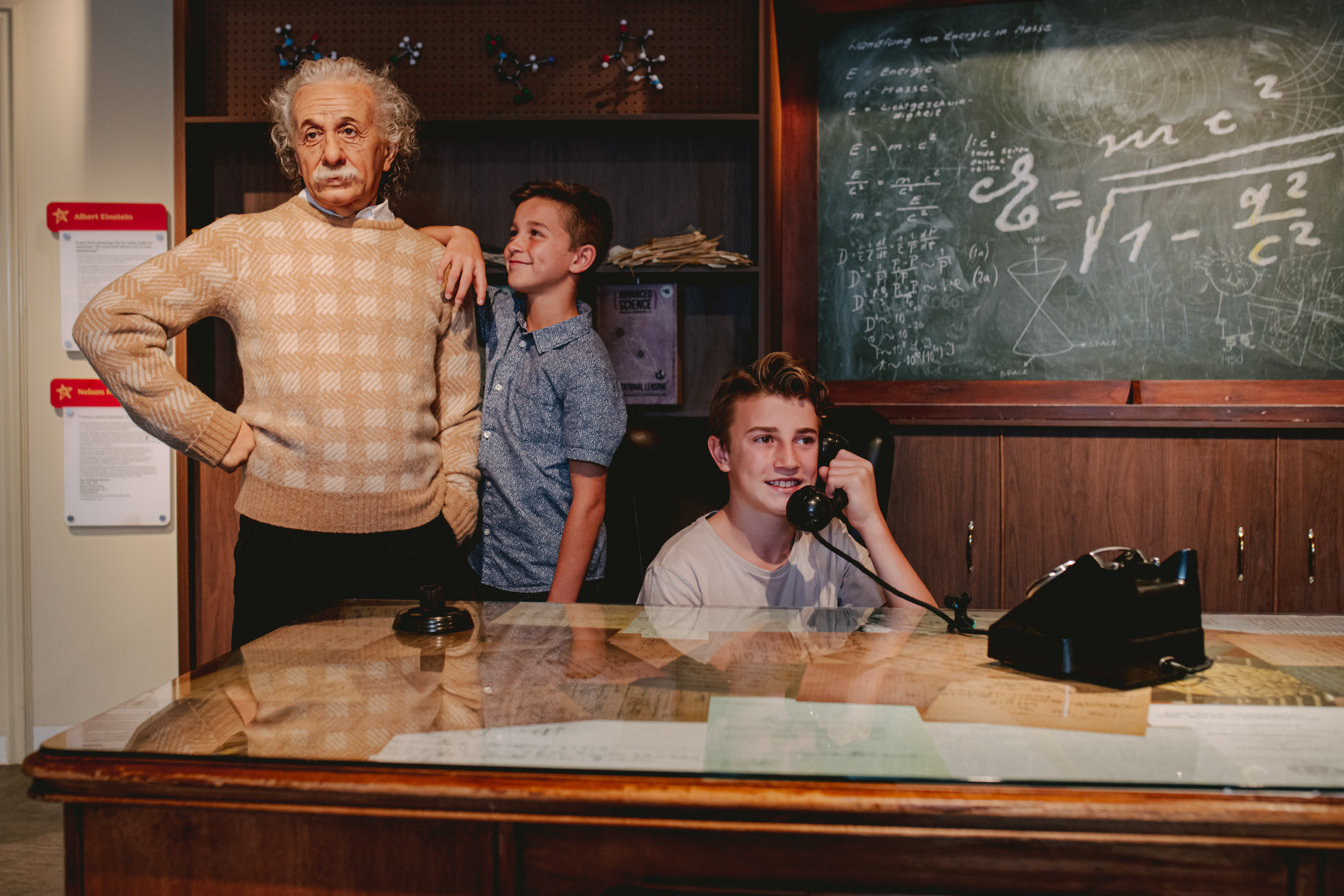Kids with Albert Einstein